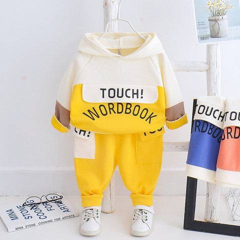 Spring Kids Clothes Baby Boys Costume Casual Tracksuit Tops Pants Children Hooded Boys Outfits Girls Infantil Newborn Set