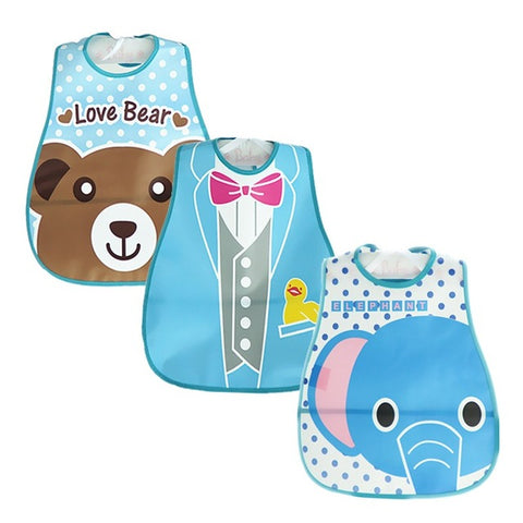 Baby Boys/Girls Assorted Plastic Bibs 3pc Set