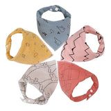 Baby Boys/Girls Assorted Bandanna Bibs 5pc Sets