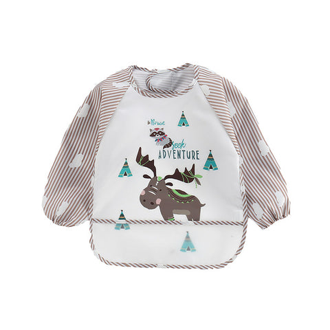 Baby Boys/Girls Long Sleeve Waterproof Apron Feeding Bibs