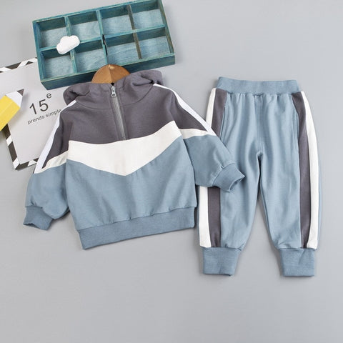 Fashion Infant Suit Autumn Baby Boys Clothing Set Casual Kids Clothes Hooded Sweatshirt Pants Long Sleeve Children Clothes Suit