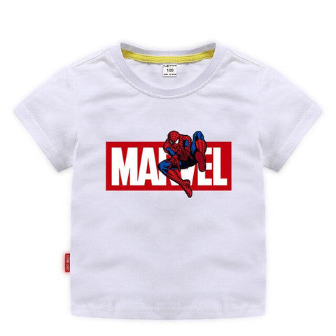 Girls Marvel Multi Colored Spider-Man Themed T-Shirts