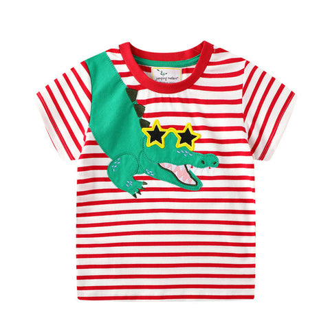 Toddler Boys Applique Summer T-Shirts