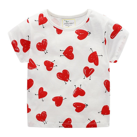 Toddler Girls Heart & Animal Print T-Shirt