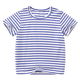 Toddler Boy Tee Solid Color t-shirts Baby Boys T-shirts Summer striped Short Sleeve Kids Tees Children Clothing 7042 07
