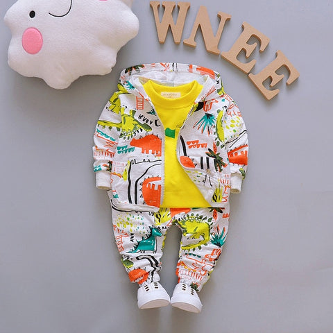 Spring Autumn Children Clothes Baby Boy Girl Casual Hooded Tops Pants Toddler Long Sleeve Clothing Kids Tracksuits 3Pcs/set
