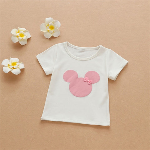 Children's Clothing Infant Kid Boys Girls Minnie Cartoon Short sleeve T-Shirt For Teenager Cotton Long sleeve Top New Hot Summer