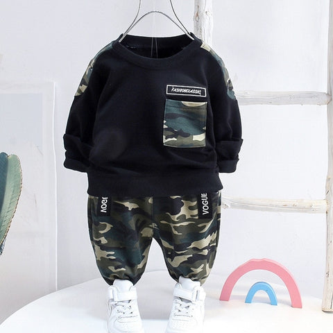 Spring Toddler Boys Clothes Casual Kids Boys Clothes Top Pant 2pcs Outfit Children Clothing Suit For Boys Clothing Set