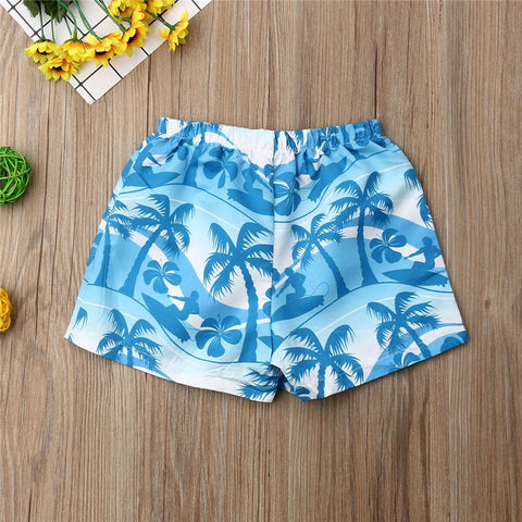 2020 Fashion Trend Baby Boy Kids Toddler Beach Shorts Swimwear Hawaiian Style New Swimsuit Hot Summer Party Swimming Trunks