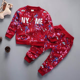 New Spring Autumn Baby Boys Girls Clothes Children Cotton Sports Jacket Pants 2Pcs/Sets Toddler Fashion Clothing Kids Tracksuits