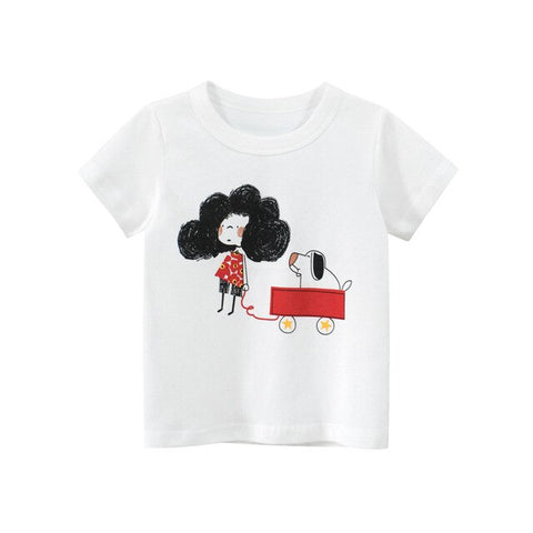 Kids Girl T Shirt Summer Baby Boy Cotton Tops Toddler Tees Clothes Children Clothing  T-shirts Short Sleeve Casual Wear