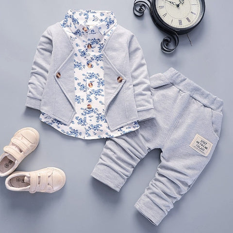 Toddler Clothing Kids Casual Suit Newborn Clothes Spring Autumn Baby Clothes Set Gentleman 2Pcs Outfit for Baby Boy Clothes