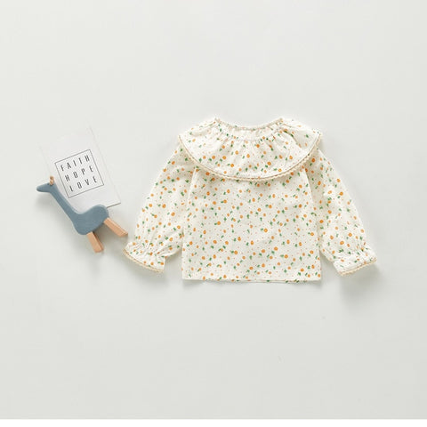 Newborn Baby Girls Blouse Floral Long Sleeve Tops Cute Princess Plaid T-shirt Baby Girl Clothes Outfits