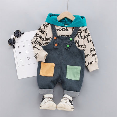 Children Clothing 2020 Autumn Boys Girls Clothes Suit Baby Long Sleeve Hooded Tops + Pants 2Pcs/sets Toddler Kids Tracksuits