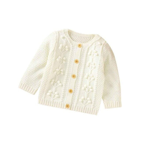 Baby Sweaters Cardiagans for Infant Kids Girls Autumn Jackets Long Sleeve Button Up Toddler Boys Knitwear Tops Winter Warm Coats