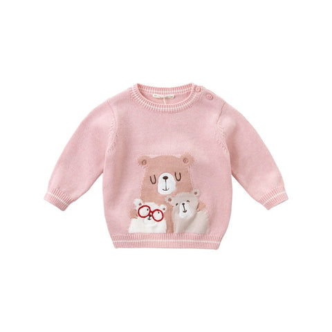 Girls cartoon knitted sweater kids fashion toddler boutique tops