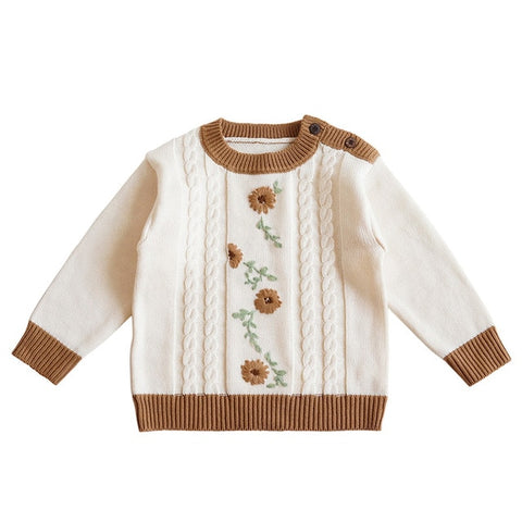 Baby Sweaters Newborn Boys Winter Clothes Knitted Toddler Girls Jumpers Autumn Winter High Quality Embroidery Outerwear 6M-4Y