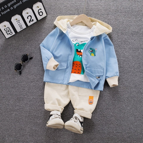 Autumn Winter 2020 Newborn Baby Boy Clothes Kids Long Sleeve Coat Top Pants Fashion Outfits Suit Infant Costume for Baby Set