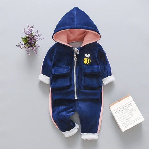Winter Baby Boys Clothing Sets 2020 Cartoon Toddler Boys Girls Warm Hooded Coats Pants Suit Kids Thick Tracksuit Clothes Set