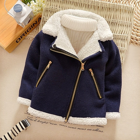 Boys Spring Autumn Coats Kids Jackets Toddler warm Windbreaker With Pocket Children Zipper Outerwear Baby Clothes 2-7 Years