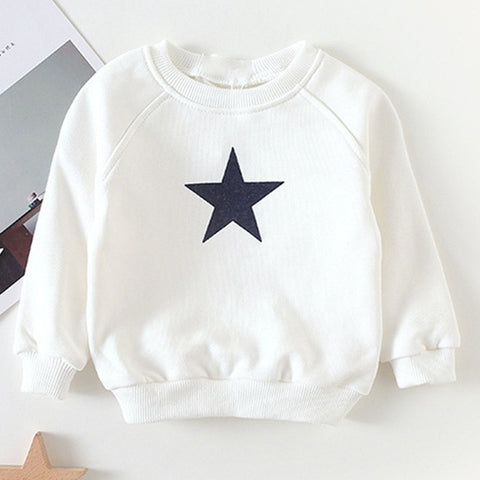 New Toddler Boys Sweater Autumn Baby Round Neck Five-pointed Star Tops Baby Girls Children's Clothing