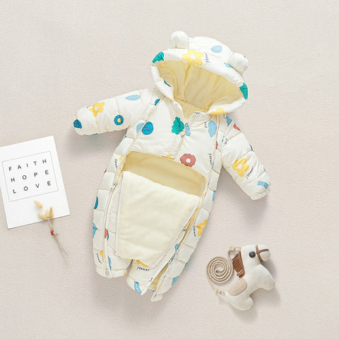 2020 Autumn Winter Baby Romper Baby Girl Cotton Hooded Overalls For Boys Infant Jumpsuit Kids Clothes For Newborn Baby Clothes