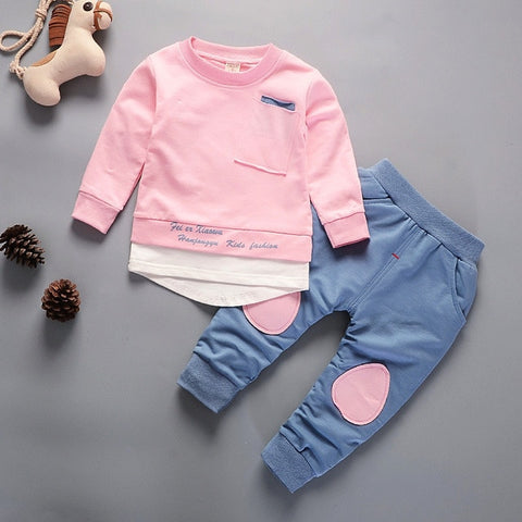 Toddler Boys Clothes Autumn Kids Girls Clothes Long Sleeve Sport Tops + Pants Outfit Children Clothing For Boys Clothing Sets