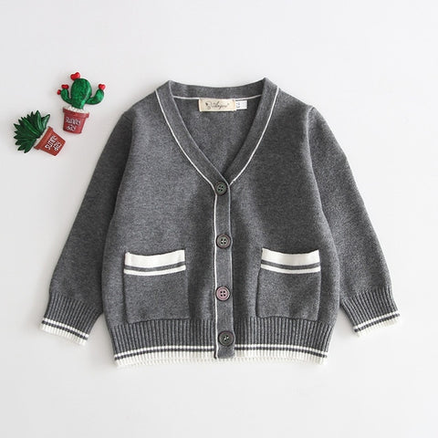 Baby Boy Girl Winter Autumn Knitted Cardigan Jumper Long Sleeve Sweater Clothes V Neck Cotton Toddler Infant Outerwear Clothing
