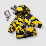 Camouflage hooded children's down jacket handsome boy down cotton jacket in the long section of the small children's winter new