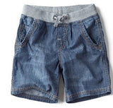 new children's clothes boy casual denim shorts simple straight pants washed fabrics
