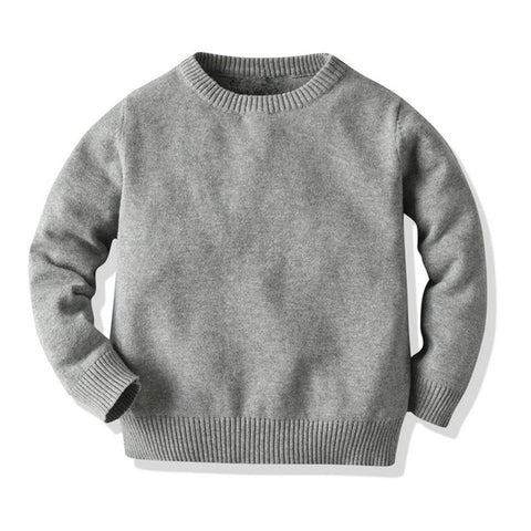 Toddler Baby Girls Boys Sweater Classic Round Neck Simple Solid Color Ribbed Closure Spring and Autumn Bottoming Tops