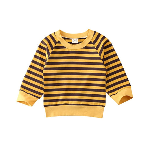 Focusnorm 0-4 Years Toddler Kids Baby Girls Boys Tops Sweater Striped Sweatshirt Blouse Pullover Outfit