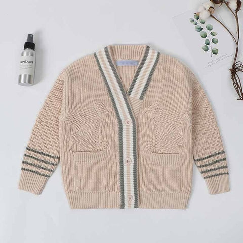 Baby Boys Sweater Jacket Autumn Toddler Girls Cotton Cardigans Sweater Cotton Jumper Knitwear Children Clothes Kids Coat