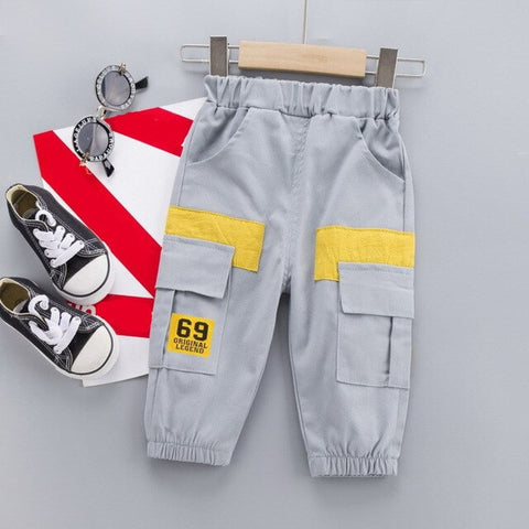 New Autumn Baby Boys Girls Clothes Children Pocket Pants Spring Toddler Fashion Casual Costume Infant Trousers Kids Sportswear