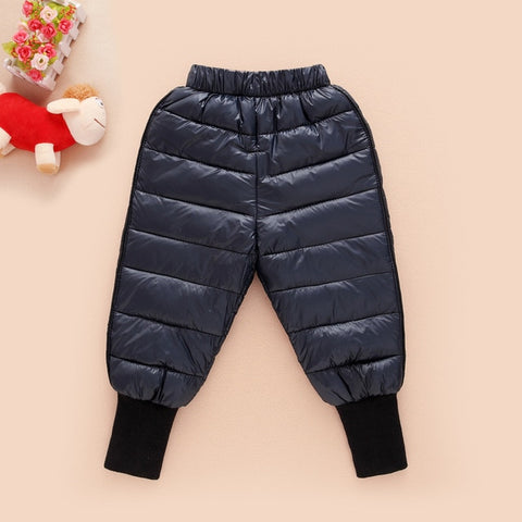 Winter Fashion Pants For Girls Sport School Trousers For Boy Warm Pant Autumn Wear Inside And Outside Solid Color Child Trousers