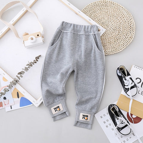 New Children Spring Fashion Clothing Baby Boys Girls Autumn Cartoon Pants Kids Infant Jeans Casual Trousers Toddler Clothes