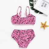 Swimsuit For Girls 2019 Kids Baby Girls Swim Leopard Bikini Set Swimwear Swimsuit Bow Swimsuit mayo de bain fille A1