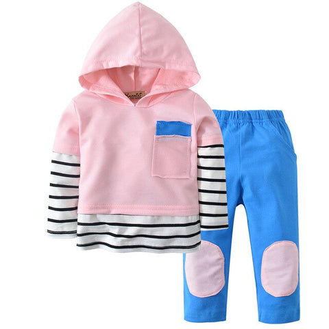 2Pcs Newborn Baby Boy Clothes Animal Print Long Sleeve T-shirt Tops Cartoon Pants Hooded Christmas Infant Toddler Clothing Set
