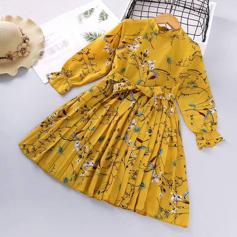 HE Hello Enjoy Toddler Girls Dresses Kids Clothes 2020 Autumn Lace Hollow Flowers Princess Party Kids Dress Vestidos Casual Wear