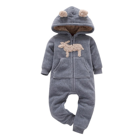 Carter's Romper long-sleeved polar fleece romper for newborns Baby Girl Clothes Baby Romper Baby Costume Baby Onesie Jumpsuit