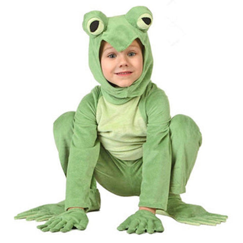 Toddler Deluxe Frog Costume Thick Cosplay Costumes With Big Frog Eyes Winter Warm Fleece Kids Dress Up Cute Animal Clothes Baby