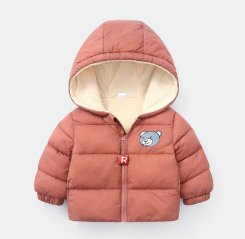 Autumn winter jacket for girls Cashmere children's jacket infant baby clothes baby cartoon boys down jacket Thick cotton coat