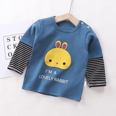 Casual Clothing For Kids Baby Striped Clothes Long Sleeve Winter Autumn T Shirt Baby Infant Wear Street Cotton Tops