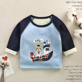 Winter Children Shirts Plus Velvet Tops For Kids Long Sleeve Children T-shirt Baby Tees Boys Bottom Warm Toddler Clothing