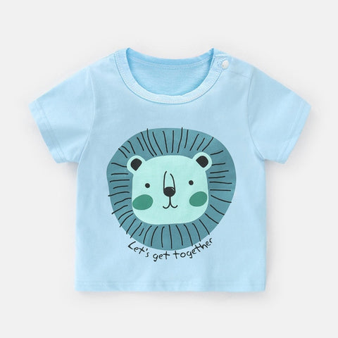 Cotton Baby Clothing 2020 Summer Fashion Toddler Baby Boys Girls T-shirts Short Sleeve Cartoon Newborn Infant Tops Baby T Shirts