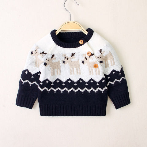 Ma&Baby 0-18M Christmas Newborn Infant Baby Boy Girl Knitted Sweaters Autumn Winter Warm Long Sleeve Deer Top Xmas Baby Clothing