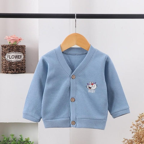 Baby Boys Girls Cardigan Autumn Cotton Sweater Top Baby Children Clothing Toddler Knitted Cardigan Sweater Kid Spring Clothes