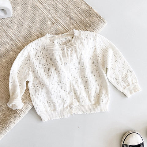 Toddler Girl Sweet Color Matching Sweater Children Sweater 2020 Autumn Baby Handmade Knitted Thin Coat
