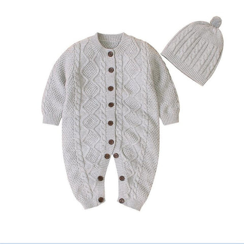 0-18M Winter Warm Thick Sweater For Baby Girl Boy Newborn Kid Clothes Long Sleeve Knitted Romper Long Sleeve Knitwear Outfit