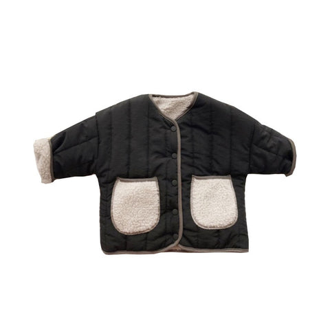 Baby Girls Winter Jackets Lambs Wool Coats Kids Warm Jackets Children Outerwear Boys Cotton-padded Coats Baby Overcoat